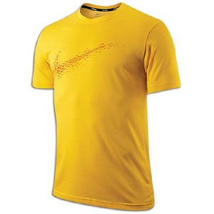Nike Cruiser Free Pattern T Shirt   Mens   Chrome Yellow/Reflective