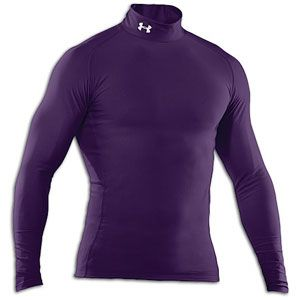 Under Armour Coldgear Game Day Compression Mock   Mens   Purple/White