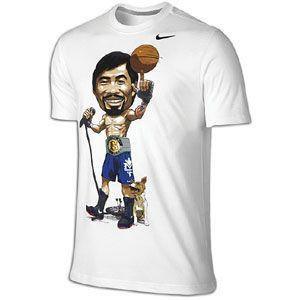 Nike Pacquiao Caricature S/S T Shirt   Mens   White/Dark Grey Heather