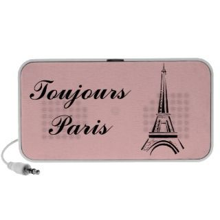 Eiffel Tower Toujours Paris Laptop Speaker