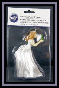 New Wilton Princess Bride w Frog Humorous Wedding Cake Topper NIP 238