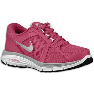 Nike Dual Fusion Run   Womens   Fireberry/White/Matte Silver/Metallic
