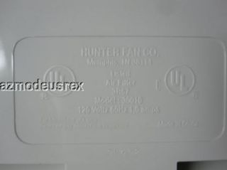 Hunter Fan Co HEPAtech Air Filter Home Air Purifier Model 30010
