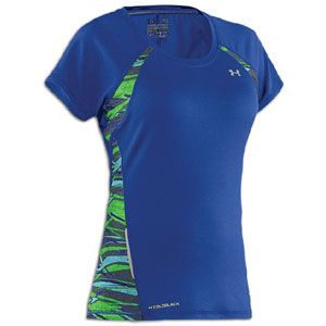 Under Armour W Coldblack Fragments Run T Shirt   Womens   Wish/Jade