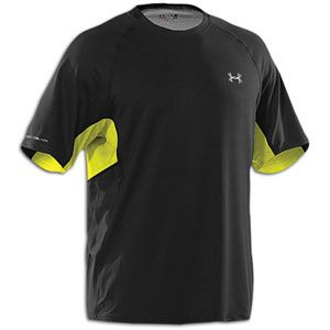 Under Armour Coldblack Run S/S T shirt   Mens   Black/High Vis Yellow