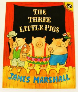 Pigs James Marshall Fairy Tale Book Kids Funny Story 0140557423