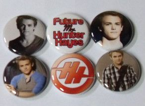 6X Hunter Hayes Band Button Badges Shirt Pins New