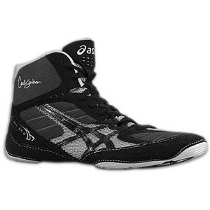 ASICS® Cael V5.0   Mens   Wrestling   Shoes   Black/Black/Silver
