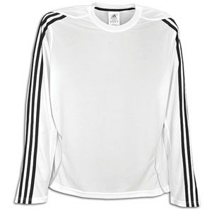 adidas Response Long Sleeve T Shirt   Mens   White/Black/Light Onix
