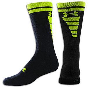 Under Armour Zagger Sock   Mens   Football   Accessories   Black/Hi