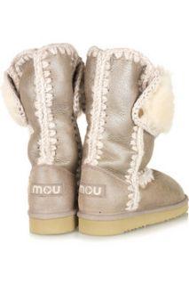 Mou Montana metallic shearling boots   65% Off