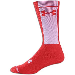 Under Armour Twister Crew Sock   Mens   Football   Accessories   Red