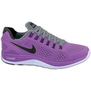 Nike LunarGlide + 4   Womens   Running   Shoes   Laser Purple/Black