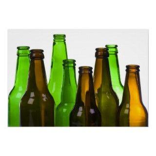 beer bottles print