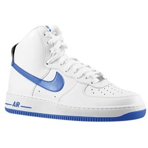 Nike Air Force 1 High   Mens   Basketball   Shoes   White/Game Royal
