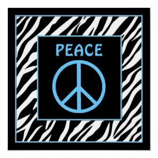 Zebra and Lime Green Peace Sign Wall Decor Poster
