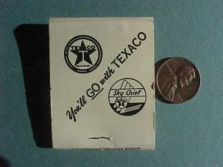 Wayne Indiana Texaco Skychief Gas Oil Service Station Matchbook
