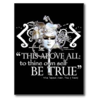 Hamlet own self be true Quote Posters