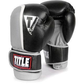 Title Boxing Platinum Ultimate Sparring Gloves   Black