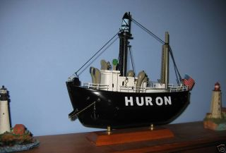 Huron Lightship Wooden SHIP Model Nice Details