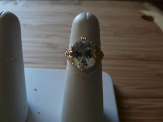 Aquamarine 14kt Gold Ring