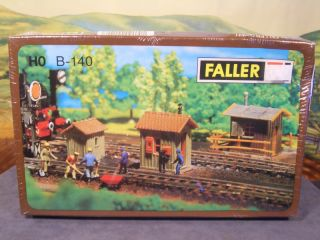 HO 1 87 Faller Kit No B 140 Three Trackside Huts New SEALED Box