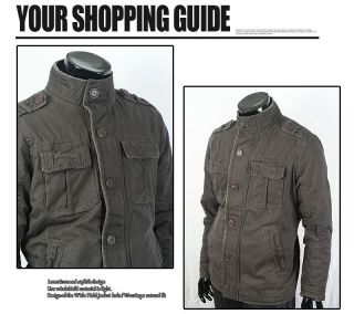 Mens Winter Vintage Hard Washing Outerwear Coat Cargo Jacket Norton
