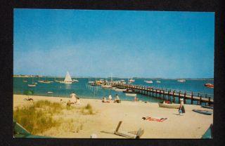 1960s Boats Beach Dock Hyannis Port Hyannisport MA PC