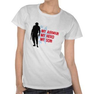 My Hero wears Combat Boots   USAF Girlfriend Tee Shirts