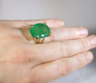 Huge 21 56ct Transparent Clean Emerald Ring in Solid Gold Its 22 x