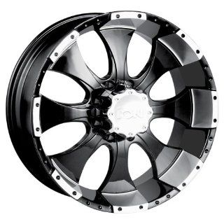 Ion Alloy (Style 137) Black with Machined Lip   20 x 10 Inch Wheel