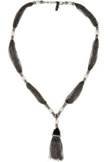 Oscar de la Renta Crystal and faux pearl multi chain necklace   64% Off