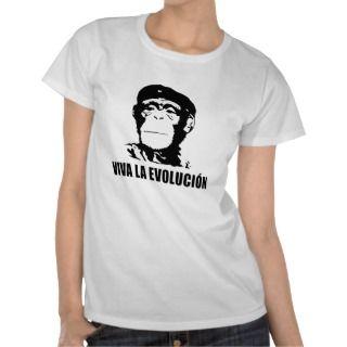 Viva La Evolucion Darwin Che Guevara Evolution Tee Shirts