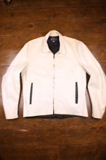 Vtg Buco 50s Tuff Hyde White Two Tone Motorcycle Cafe Racer Biker