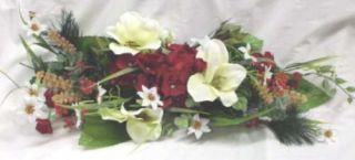 Amarylis Cream Hydrangea Berry Silk Flowers Swag G796