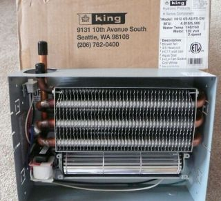 King Hydronic Fan Coil Radiant Wall Heater w Thermostat