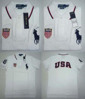 USA Ralph Lauren Big Pony Polo Shirt Custom Fit White