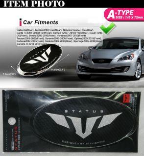 Status Front Grill Emblem A for 07 10 Hyundai Veracruz