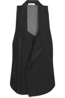 Helmut Lang Stretch cotton denim biker vest   70% Off