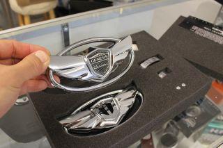 Hyundai Genesis Coupe Chrome Wing Steering Wheel Emblem