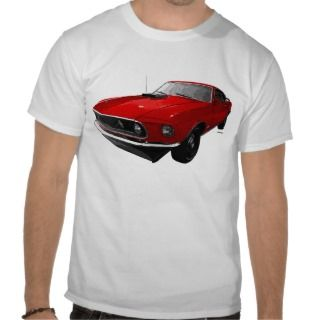 1969 Ford Mustang GT Fastback Cobra Jet Red Tees