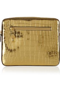 Marc Jacobs Cosmic croc effect metallic leather iPad case