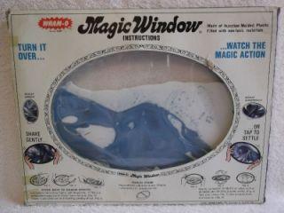 VINTAGE WHAM O MAGIC WINDOW 1973 FIRST YEAR PRODUCED IOB W/ STAND