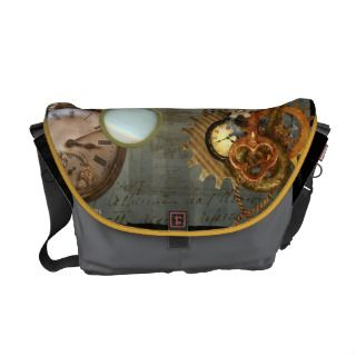 Steampunk Time Machine Bag Messenger Bag