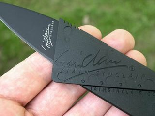 Black IS1 Credit Card Folding Safety Knife Iain Sinclair