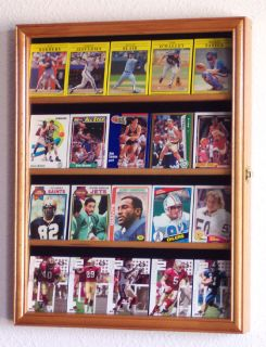 Sport Trading Card Display Case Cabinet Rack Holder Box
