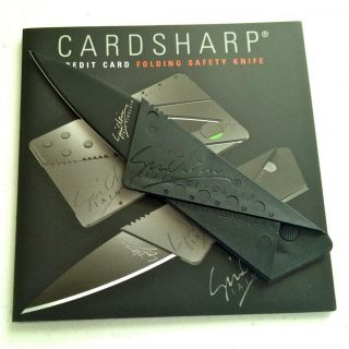 Ian Sinclair Cardsharp 2 Black Blade Credit Card Folding Safety Knife
