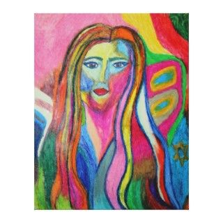 New Artists Debbie Davidsohn Self Portrait Gallery Wrap Canvas