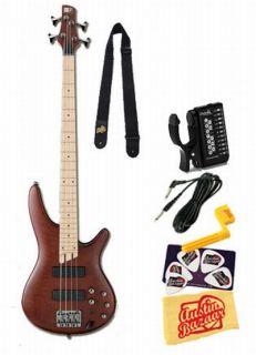 Ibanez SR505M SR Five String Electric Bass Guitar Bundle