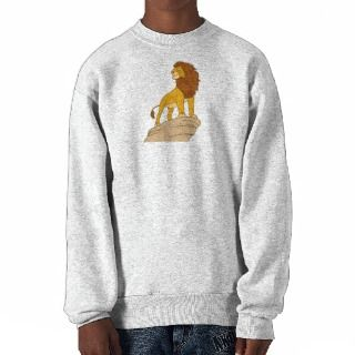 Lion King adult Simba standing proud on rock cliff Pullover